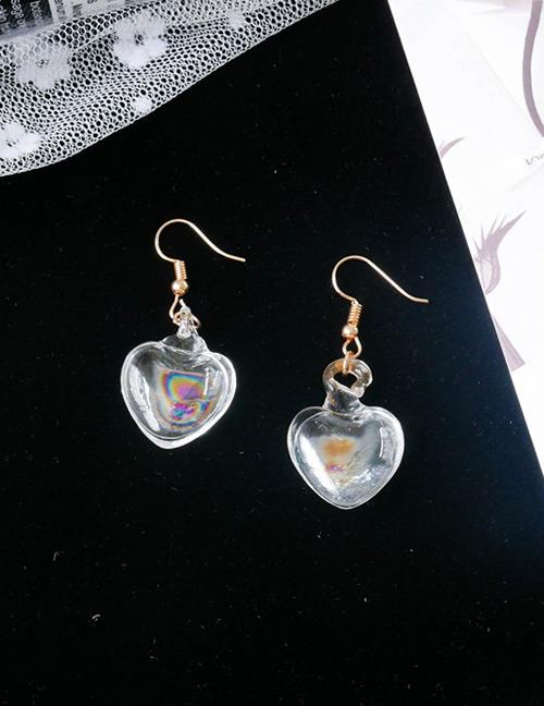 Fashion Multi-color Heart Shape Decorated Tassel Earrings