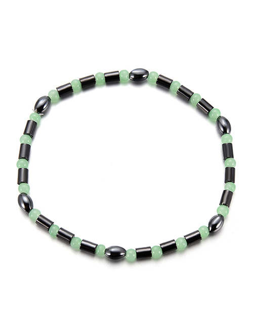 Fashion Green Color-matching Decorated Bracelet