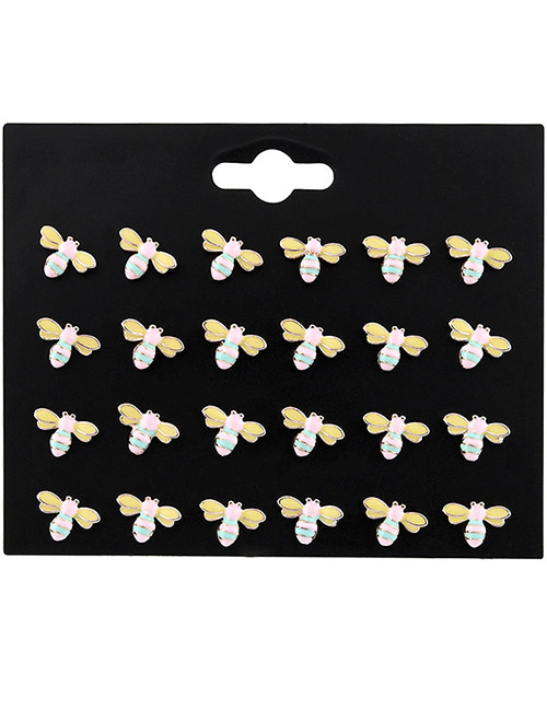 Fashion Yellow Bee Shape Decorated Earrings Sets(12 Pcs)