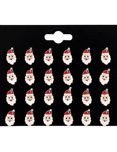 Fashion Multi-color Santa Claus Shape Decorated Earrings Sets(12 Pairs)