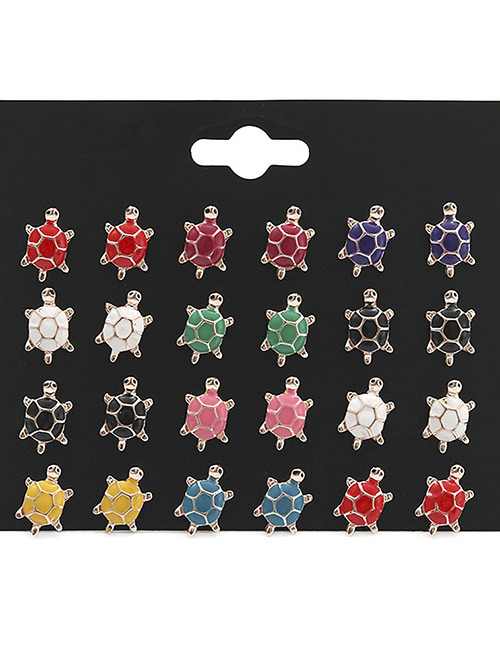 Fashion Multi-color Tortoise Shape Decorated Earrings Sets(12 Pairs)