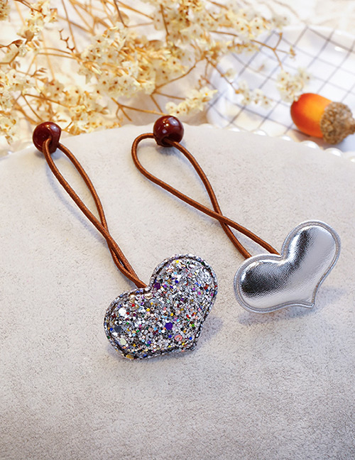 Fashion Silver Color Heart Shape Decorated Hair Band (2 Pcs)