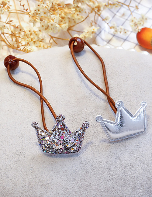 Fashion Silver Color Crown Shape Decorated Hair Band (2 Pcs )