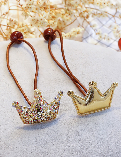 Fashion Gold Color Crown Shape Decorated Hair Band (2 Pcs )