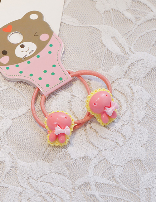 Fashion Pink Rabbit Head Shape Decorated Hair Band (2 Pcs )
