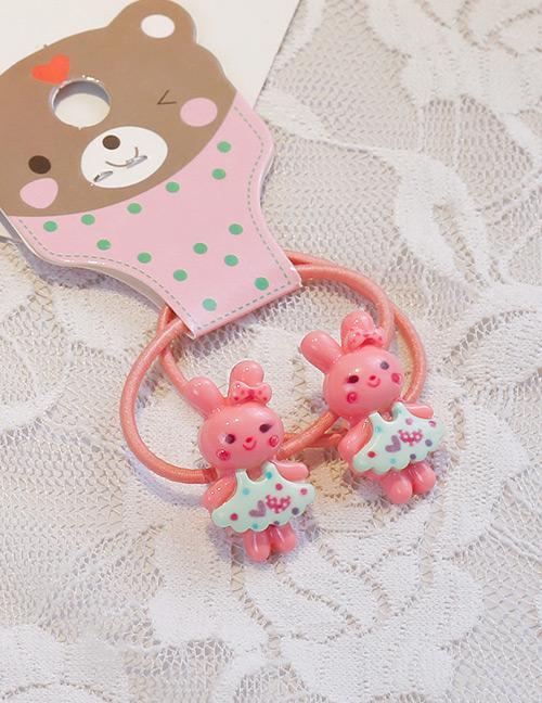 Fashion Pink Rabbit Shape Decorated Hair Band (2 Pcs )
