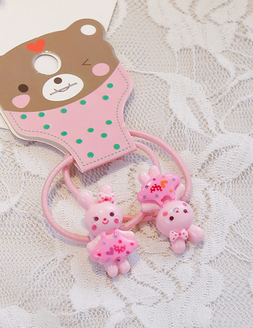 Fashion Light Pink Rabbit Shape Decorated Hair Band (2 Pcs )
