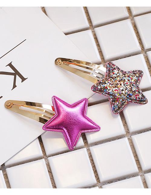 Simple Purple Star Shape Decorated Hair Clip (2 Pcs )