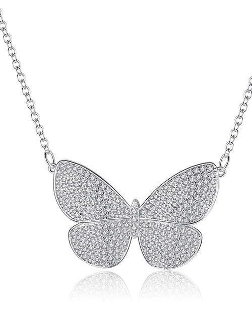 Fashion Silver Color Butterfly Shape Decorated Necklace