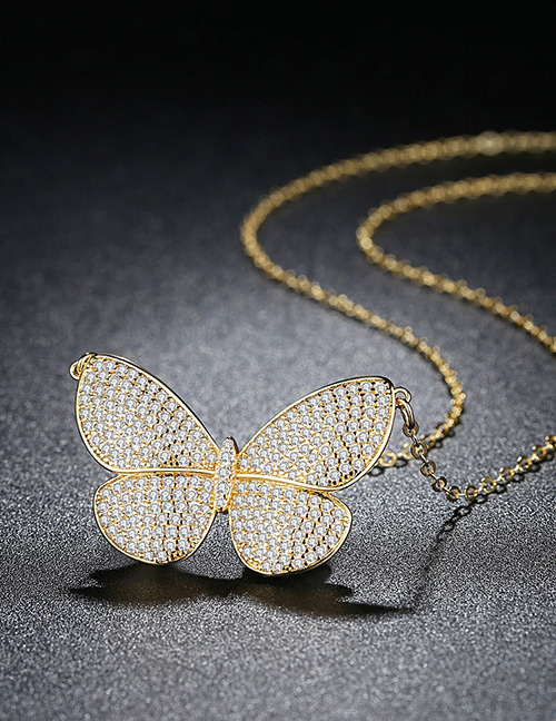 Fashion Gold Color Butterfly Shape Decorated Necklace