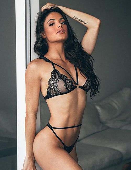 Sexy Black Hollow Out Design Pure Color Underwear