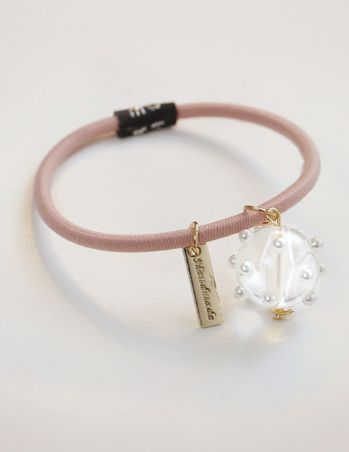 Simple Pink Pearl Decorated Hair Band