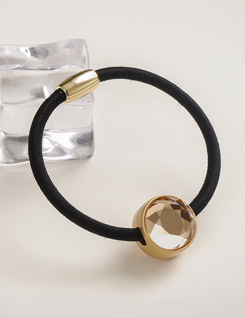 Fashion Champagne Round Shape Decorated Hair Band