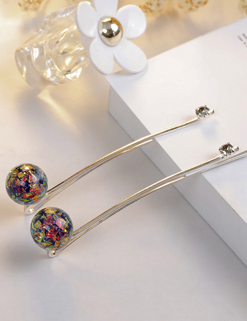 Fashion Multi-color Ball Shape Decorated Hair Clip