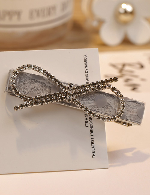 Fashion Gray Bowknot Shape Decorated Hair Clip