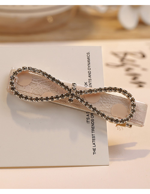 Fashion Champagne Tie Shape Decorated Hair Clip