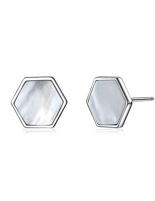 Fashion Silver Color Geometry Shape Decorated Earrings