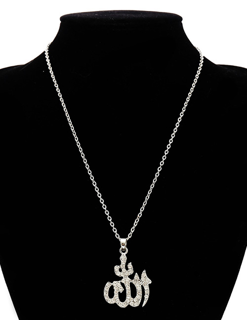 Fashion Silver Color Diamond Decorated Necklace