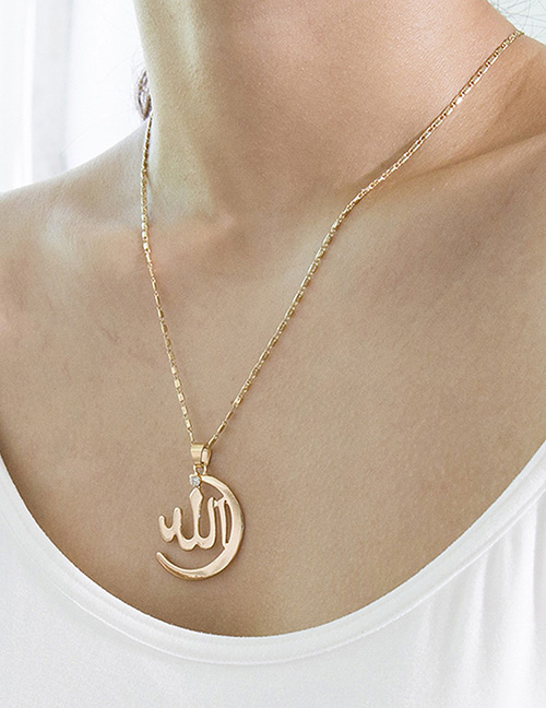 Simple Gold Color Pure Color Decorated Necklace