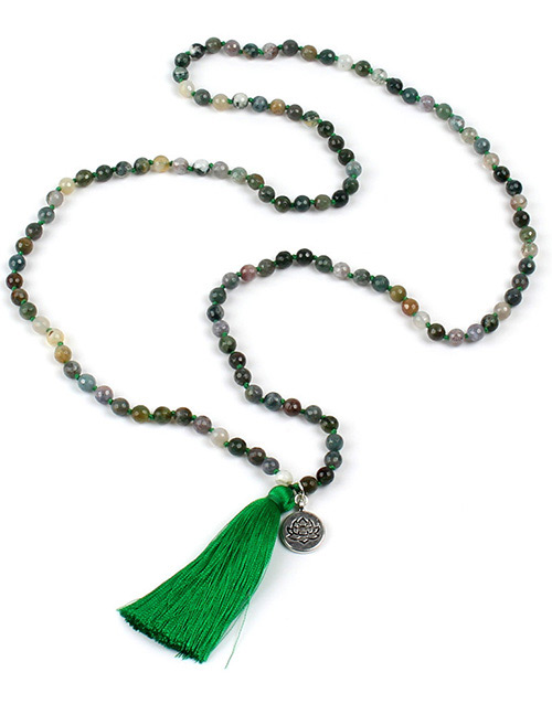Fashion Gren Tassel Decorated Necklace