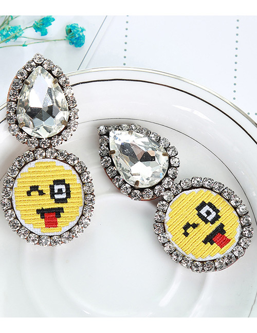 Fashion Multi-color Face Pattern Decorated Earrings