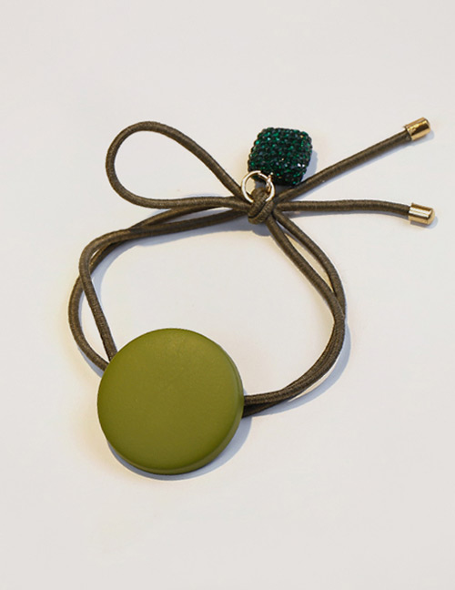 Fashion Green Button Shape Decorated Hair Band