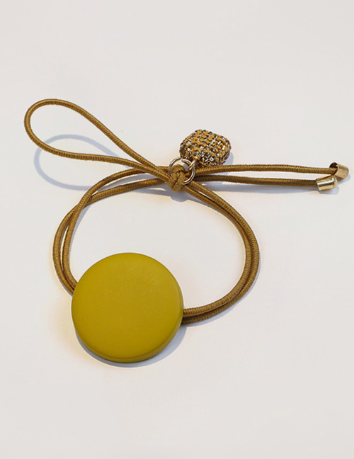 Fashion Light Yellow Button Shape Decorated Hair Band