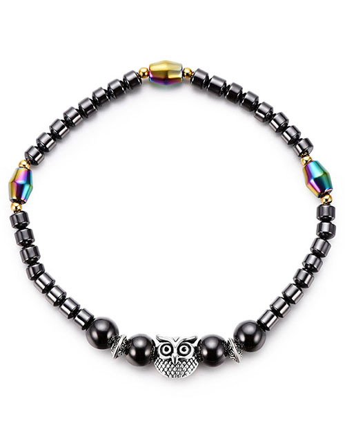 Fashion Black Owl Shape Decorated Anklet