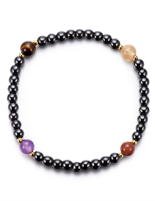 Fashion Multi-color Bead Decorated Anklet