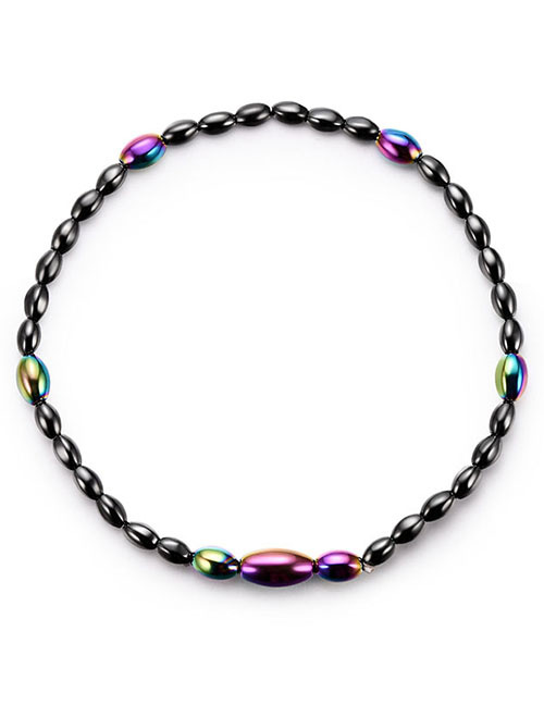 Fashion Multi-color Oval Shape Decorated Anklet