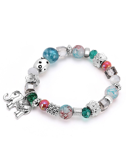 Fashion Multi-color Elephant Shape Decorated Bracelet