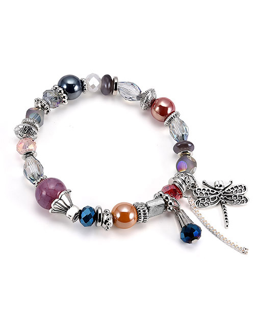 Fashion Multi-color Dragonfly Shape Decorated Bracelet