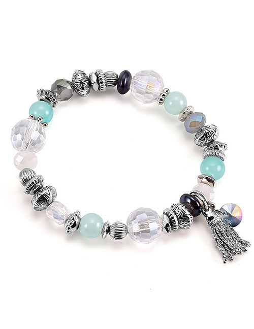 Fashion Multi-color Bead&tassel Decorated Bracelet