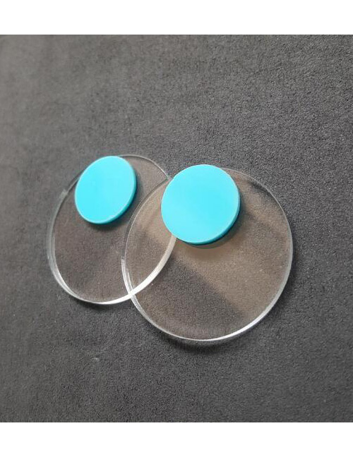 Fashion Blue Round Shape Decoratd Earrings