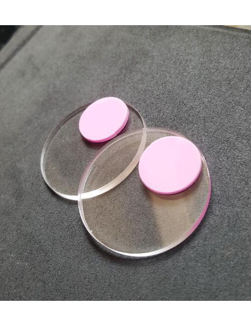 Fashion Pink Round Shape Decoratd Earrings