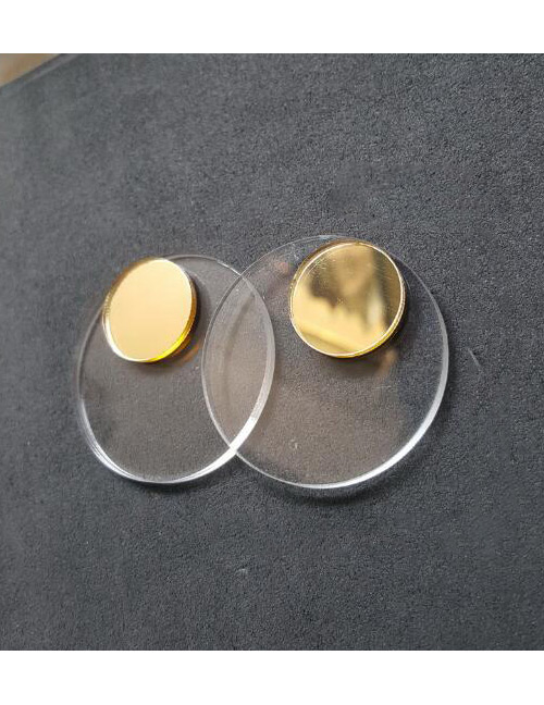 Fashion Gold Color Round Shape Decoratd Earrings