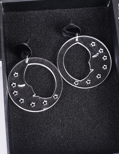 Fashion White Pure Color Design Hollow Out Earrings