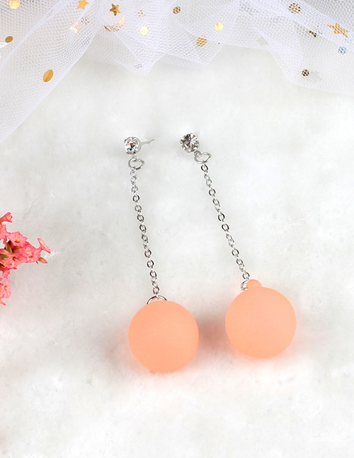 Fashion Orange Ball Shape Decorated Earrings