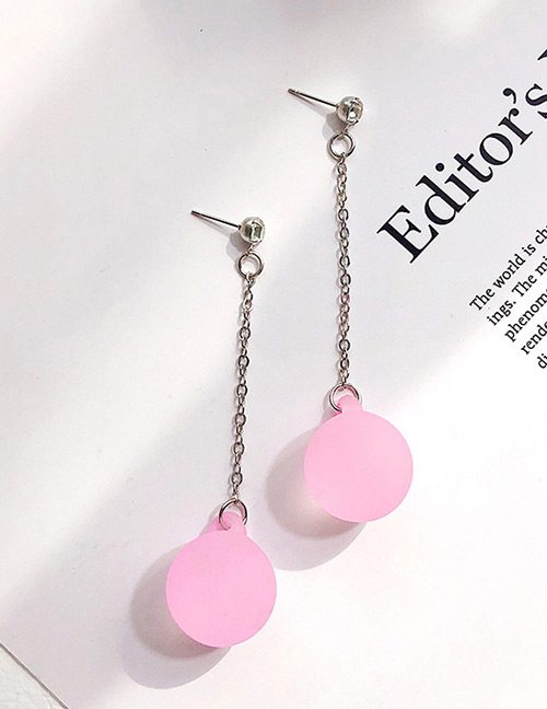 Fashion Pink Ball Shape Decorated Earrings