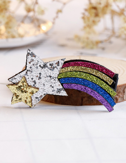 Fashion Multi-color Star Shape Decorated Hair Clip