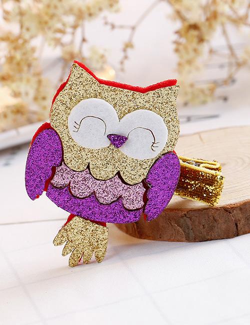 Fashion Multi-color Owl Shape Decorated Hair Clip