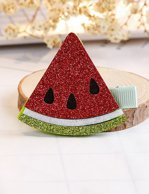 Fashion Multi-color Watermelon Shape Decorated Hair Clip