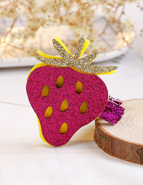 Fashion Plum Red Strawberry Shape Decorated Hair Clip