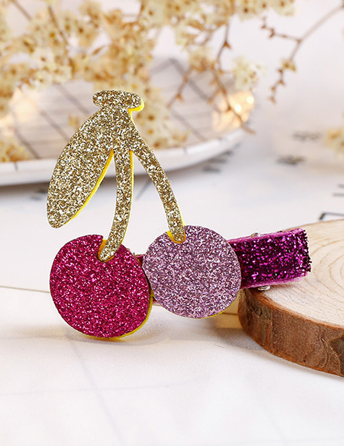 Fashion Multi-color Cherry Shape Decorated Hair Clip