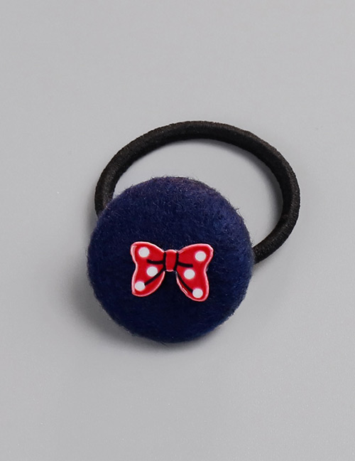Fashion Navy Bowknot Pattern Decorated Hair Band
