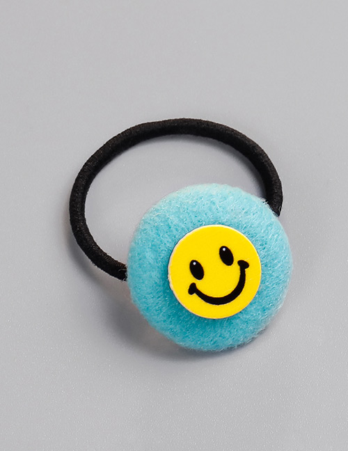 Fashion Blue Smile Face Pattern Decorated Hair Band