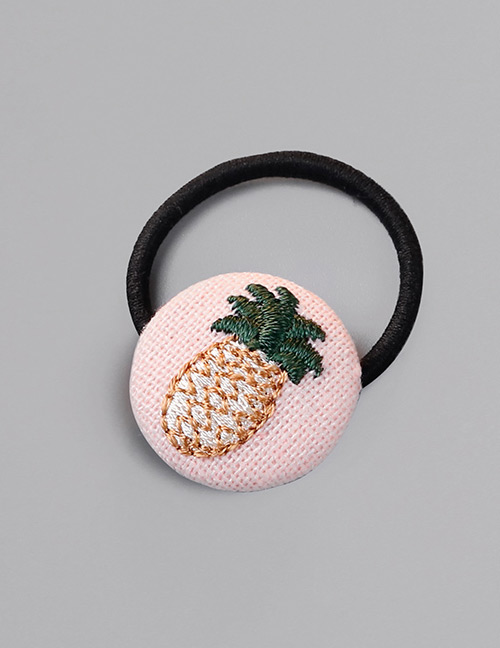 Fashion Pink Pineapple Pattern Decorated Hair Band