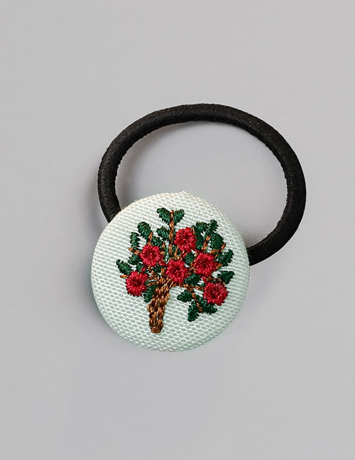 Fashion Green Flower Pattern Decorated Hair Band