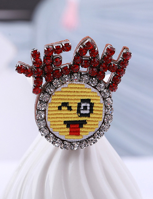 Fashion Multi-color Yean Face Pattern Decorated Brooch