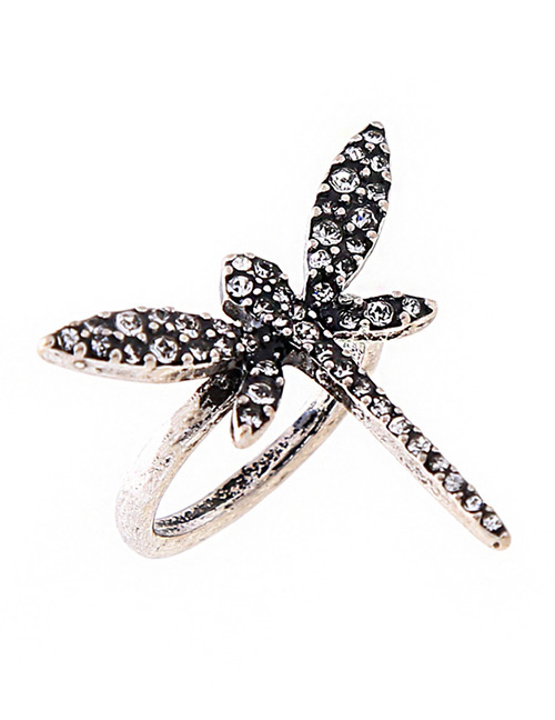 Fashion White Dragonfly Shape Design Simple Ring